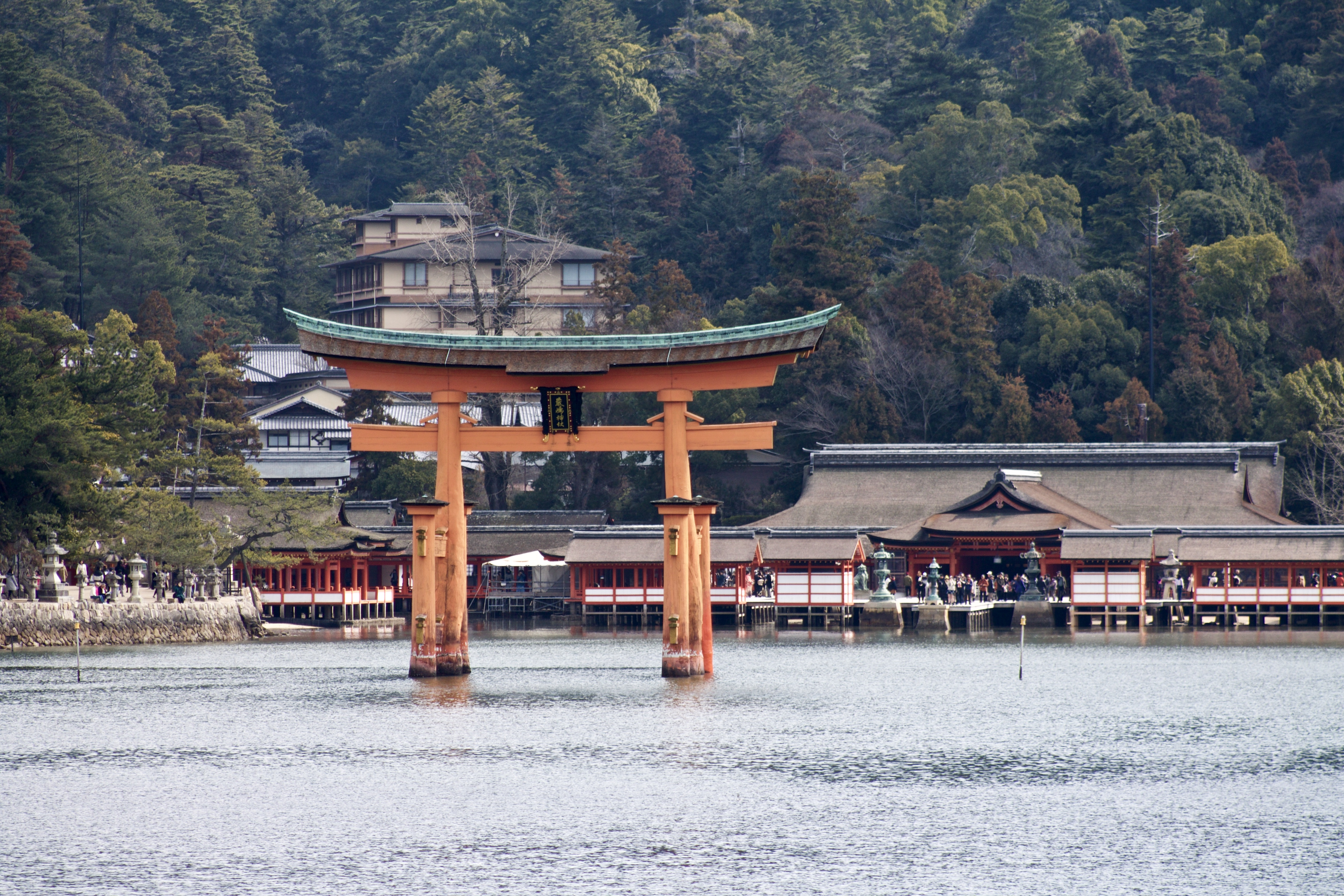miyajime torii and temple