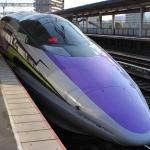 エヴァンゲリオン新幹線に乗車!